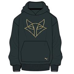 Vixens Puma Black/Gold Hoodie - Kids