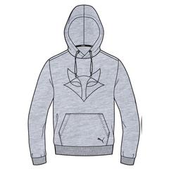 2021 Puma Grey/Black Hoodie - UniSex