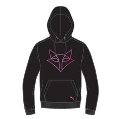 2021 Puma Black/Pink Hoodie - Ladies