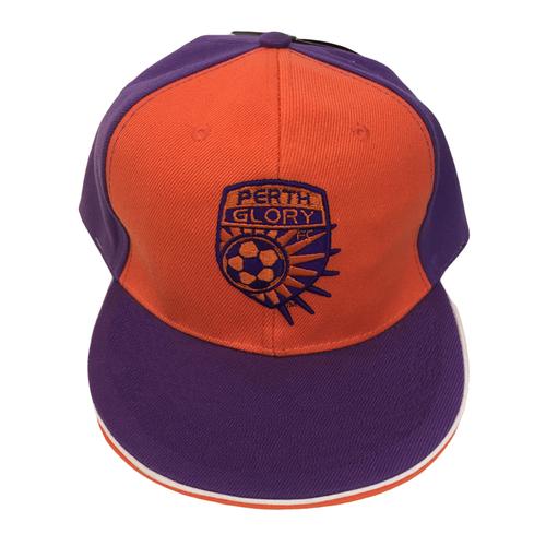 Cap - Flat Peak Purple & Orange