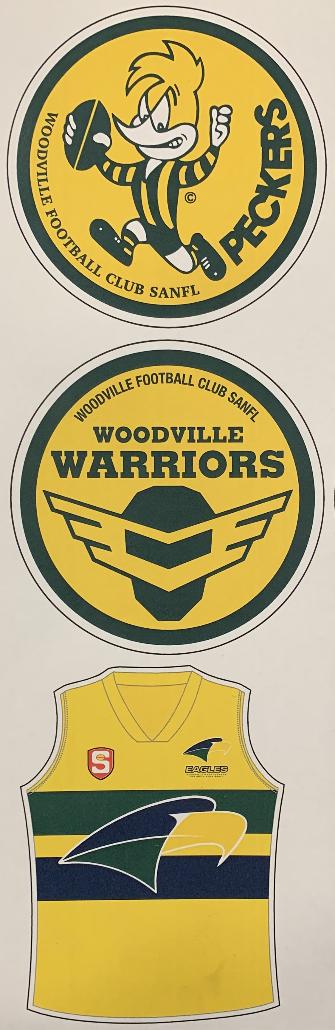 Woodville Retro sticker set
