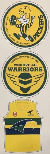 Woodville Retro sticker set