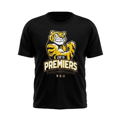 2019 Glenelg Football Club Premiers Tee - Black