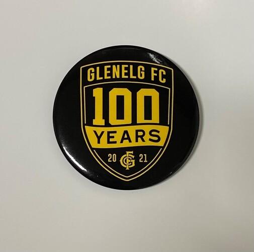 2021 100 Year Button Badge