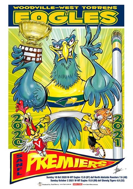 2021 Premiership Caricature Poster A2 size (42cm x 60cm)