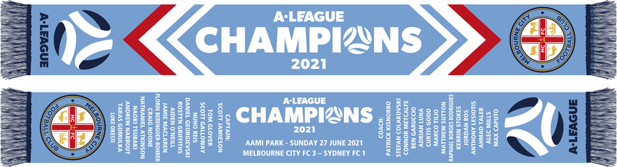2021 A-LEAGUE CHAMPIONS SCARF
