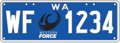 PRE-ORDER: Western Force License Plate